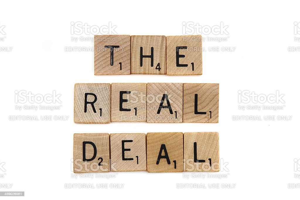 The Real Deal royalty-free stock photo