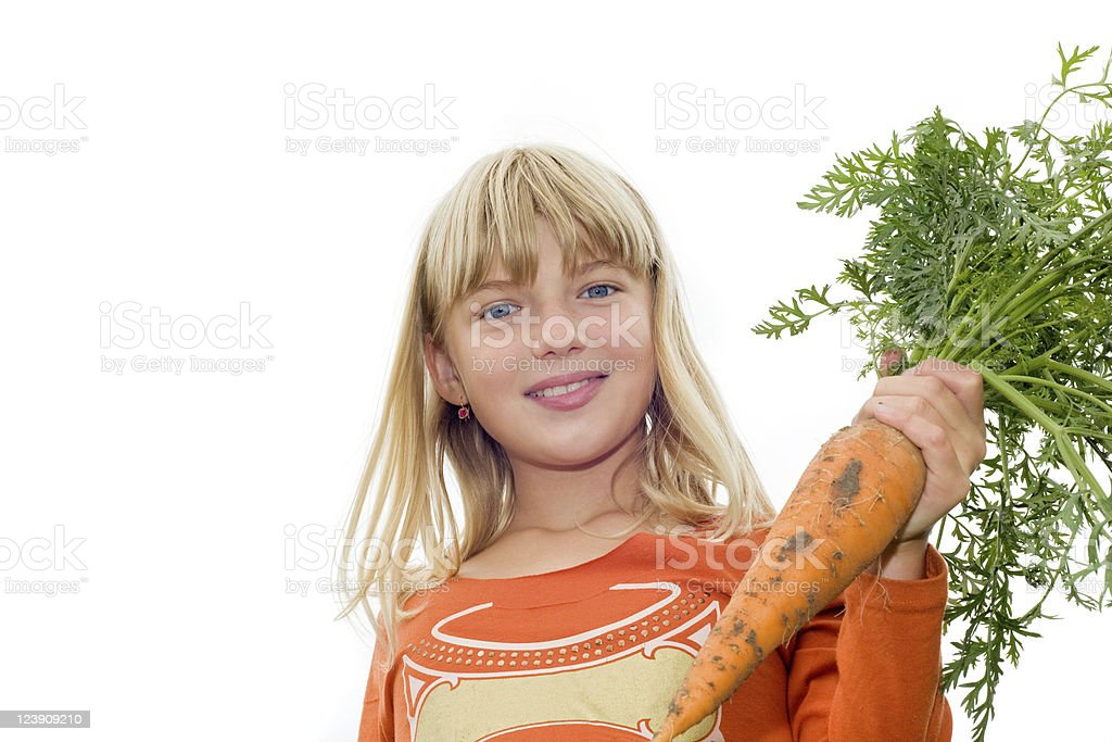 The real fresh carrot royalty-free stock photo