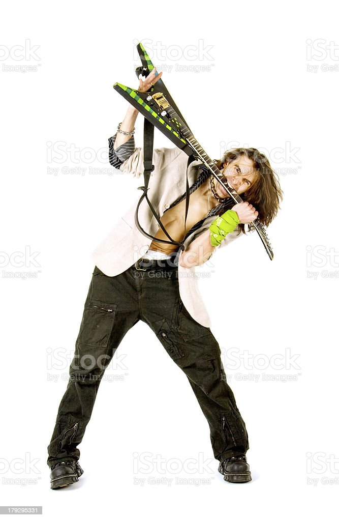 The real rock star royalty-free stock photo