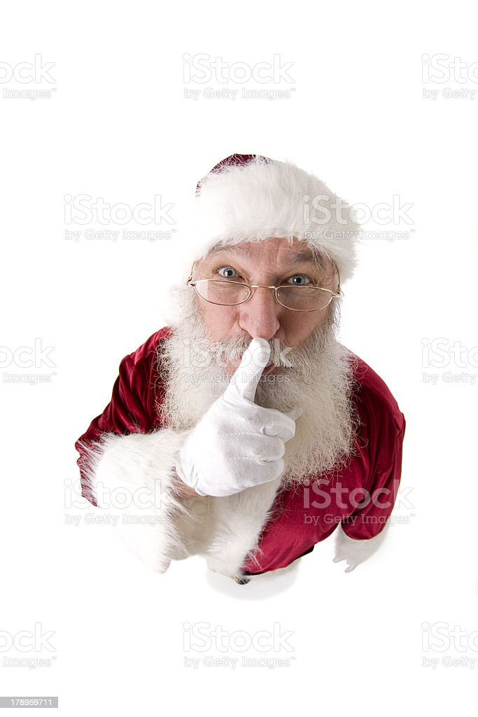 The REAL Santa Claus Keeps a Secret stock photo