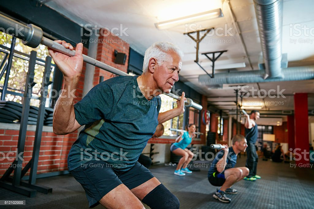 The real workout starts when you want to stop stock photo