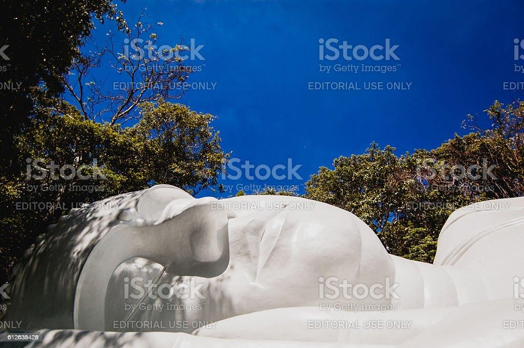 The reclining Buddha on Ta Cu mountain stock photo