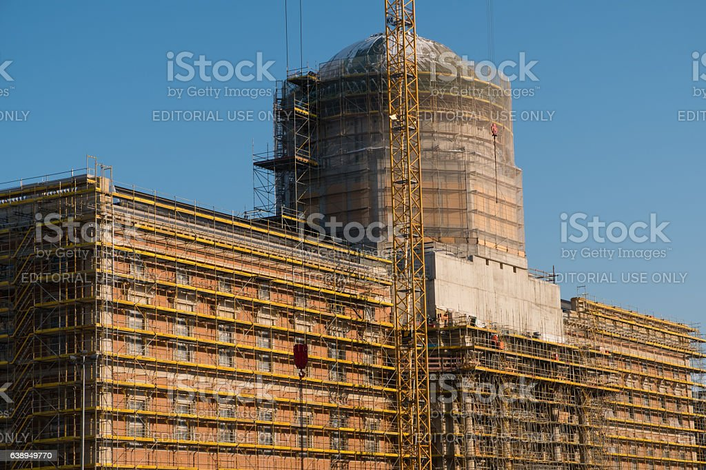 The reconstruction of the Berlin City Palace / Stadtschloss stock photo
