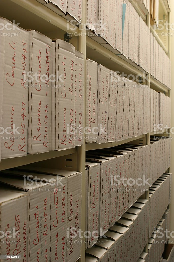 The records room royalty-free stock photo