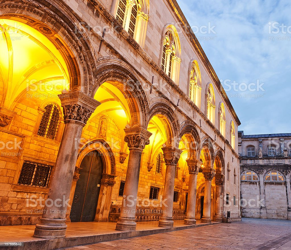 The Rector's Palace In Dubrovnik, Croatia stock photo