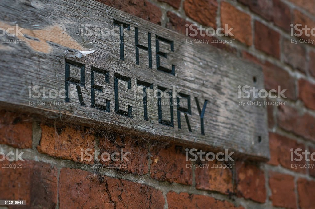 The Rectory Sign royalty-free stock photo