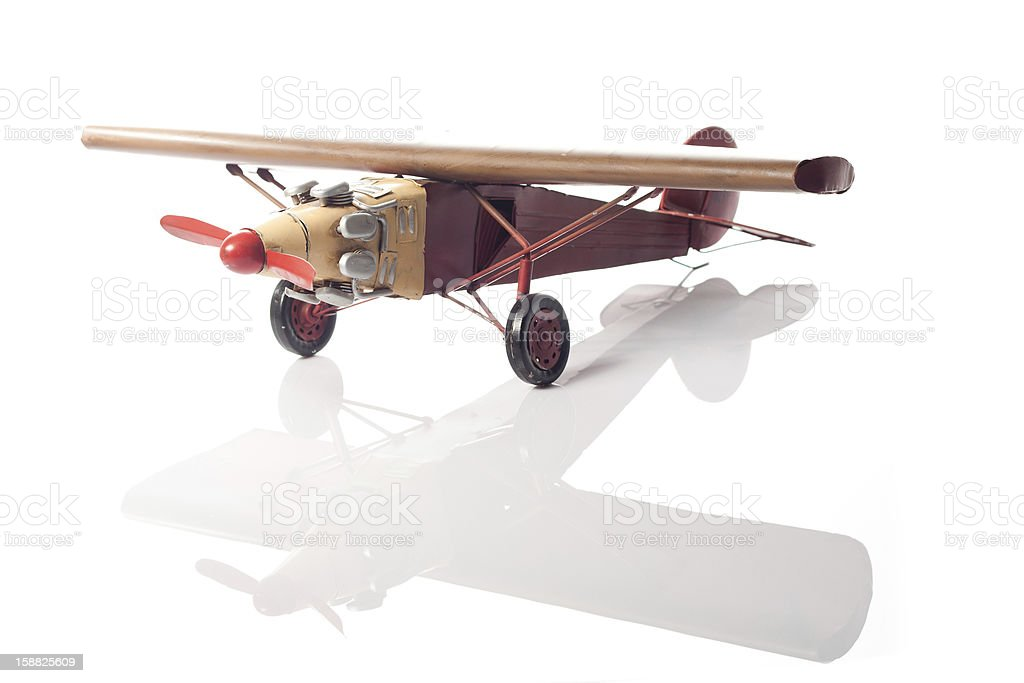 The red airplane royalty-free stock photo