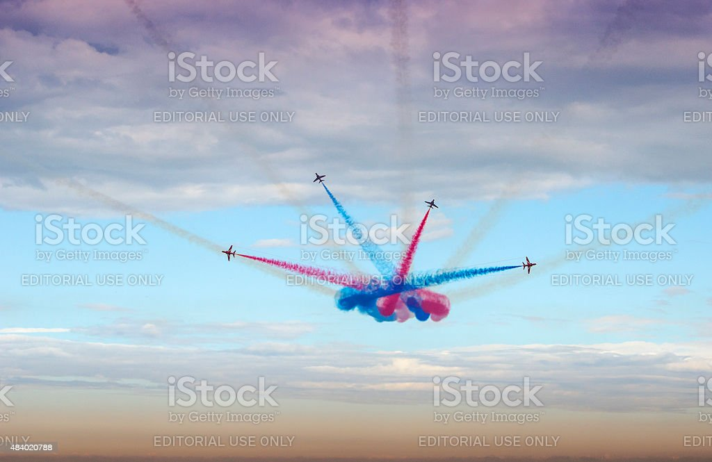 The Red Arrows Display Team stock photo