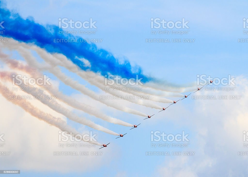 The Red Arrows stock photo