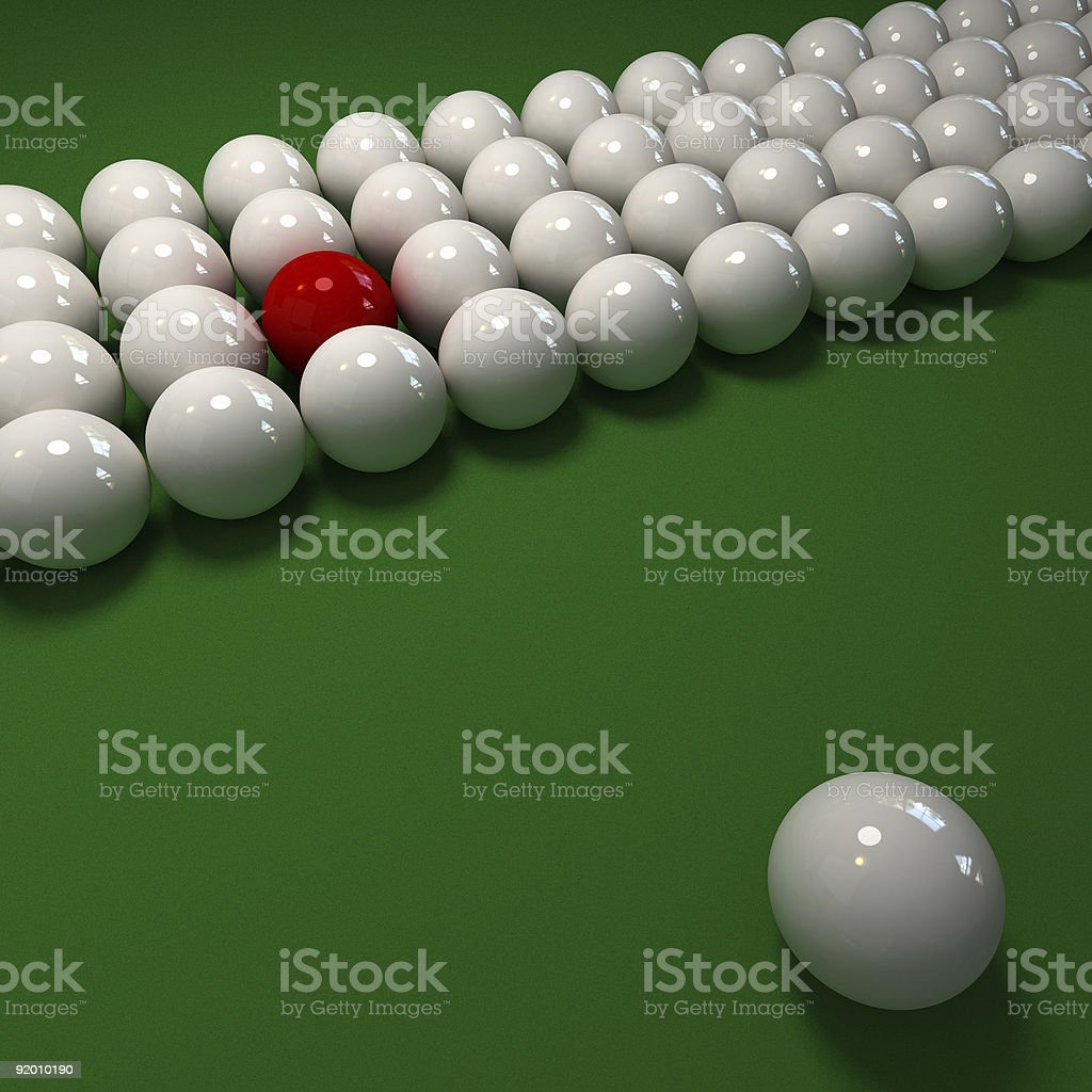 The red ball royalty-free stock photo
