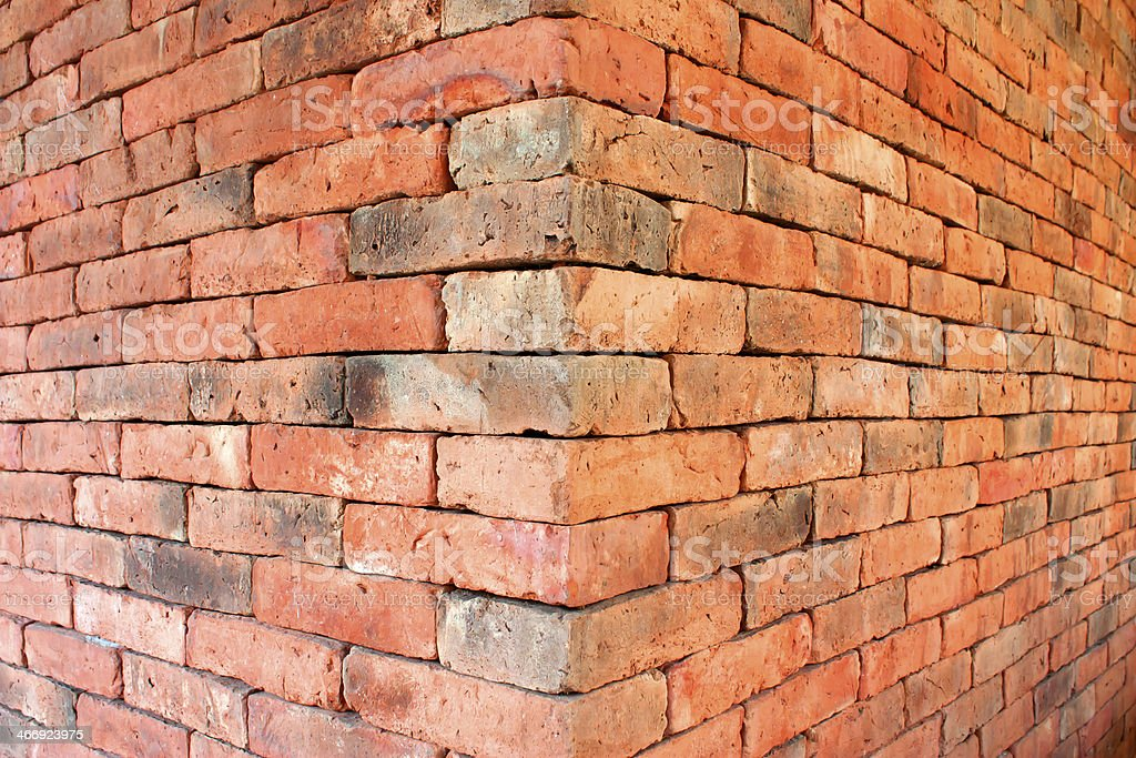 The red brick walls. royalty-free stock photo