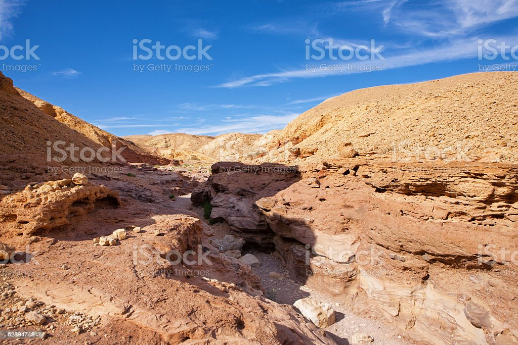 The Red Canyon tourist attraction in Israel stock photo