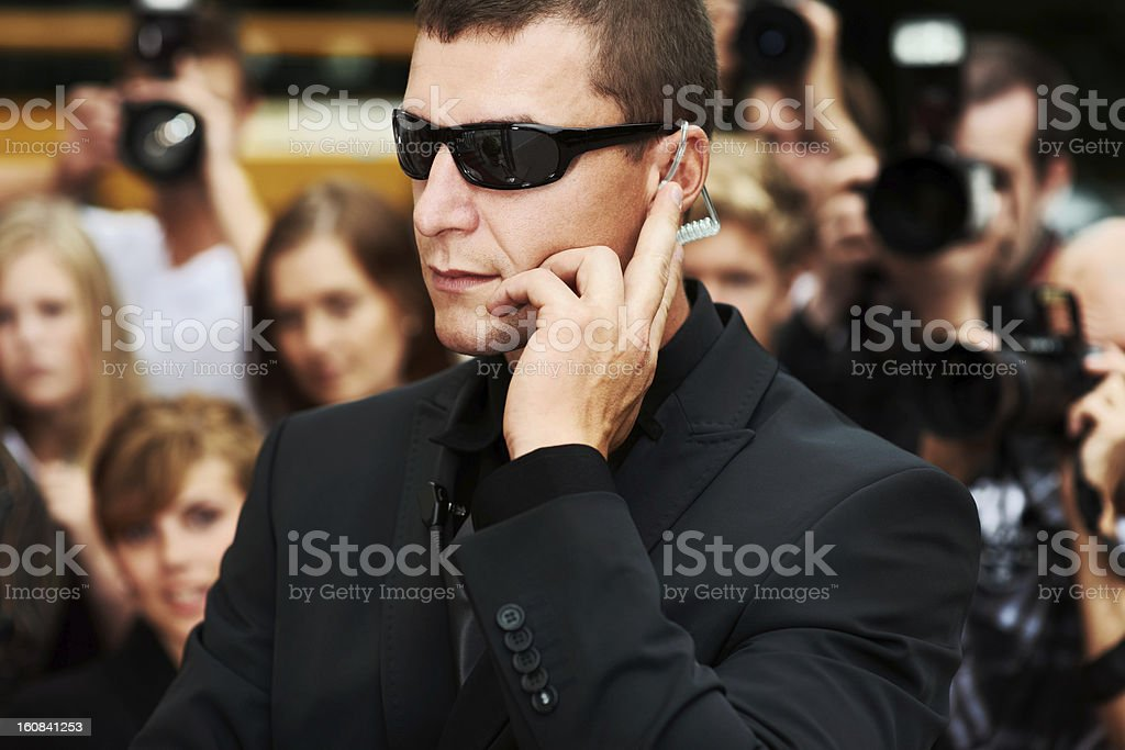 'The red carpet is secure' royalty-free stock photo
