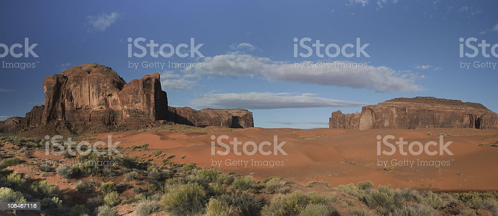 The Red Desert of Monument Valley, Arizona royalty-free stock photo