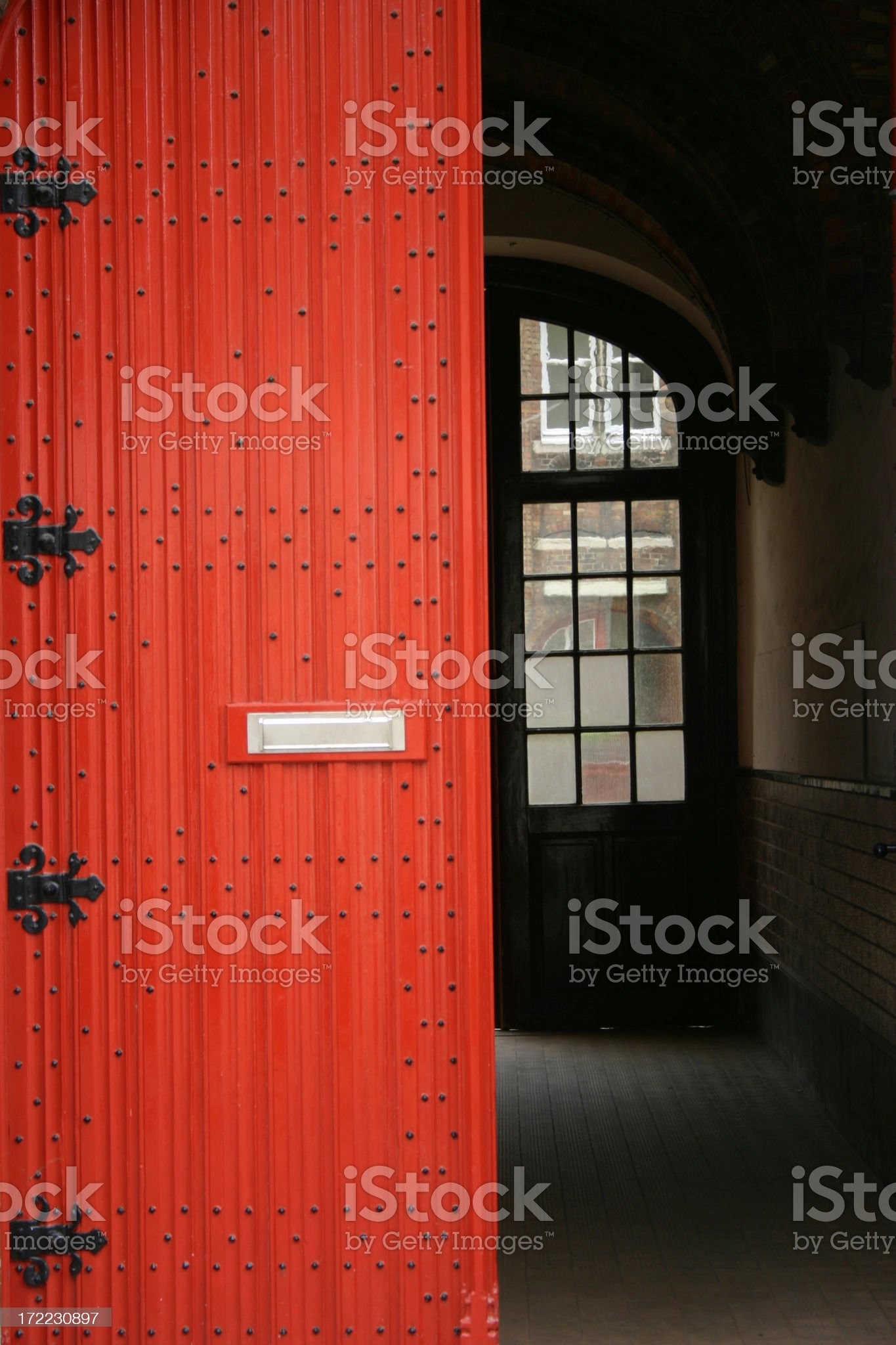 The Red door royalty-free stock photo
