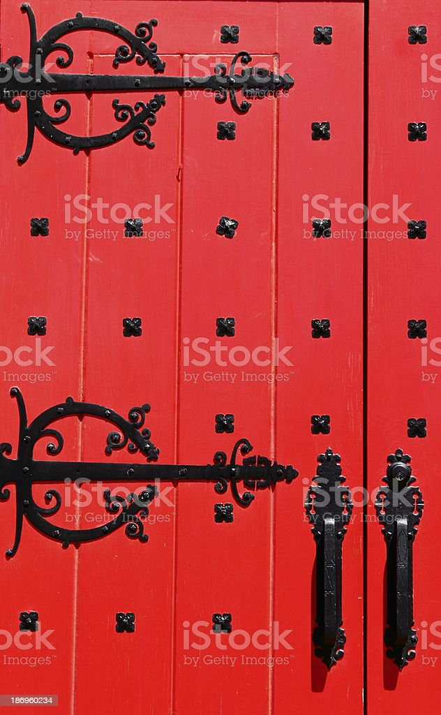 The Red Door stock photo