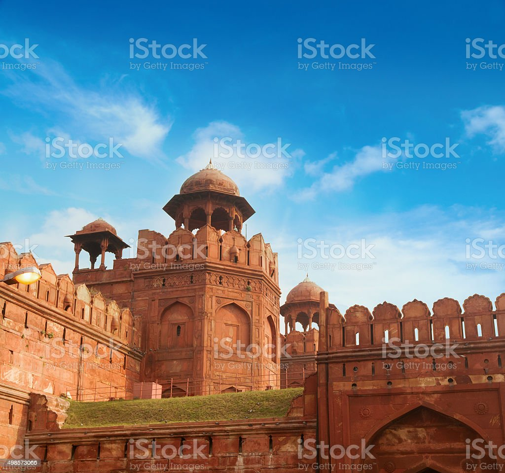 The Red Fort on sunny day stock photo