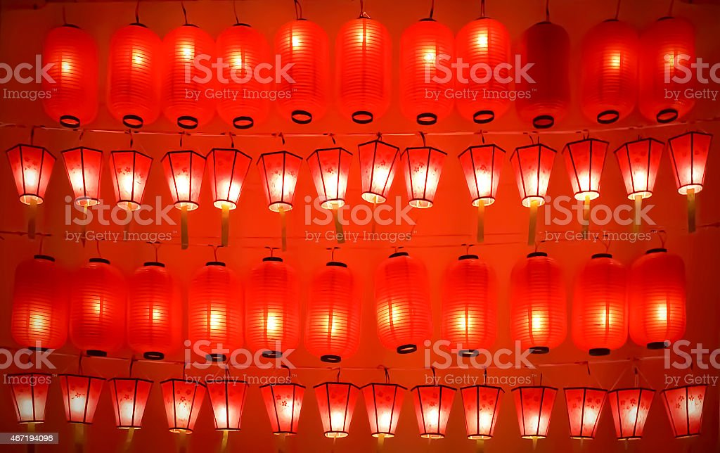 The red light lanterns background royalty-free stock photo