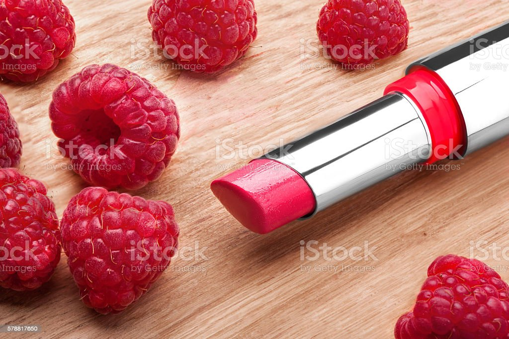 the Red lipstick stock photo