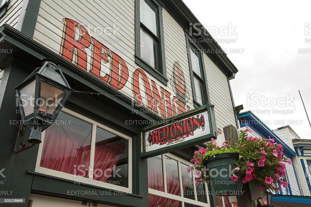 The Red Onion Saloon in Skagway stock photo