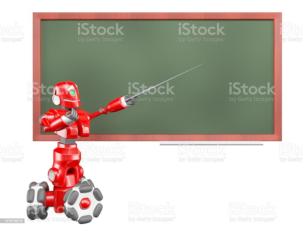 The red robot stock photo