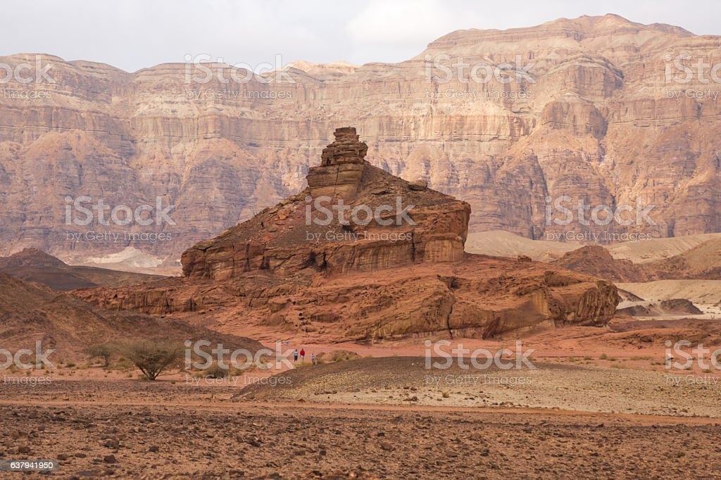 The red sand rocks in Timna park, Israel stock photo