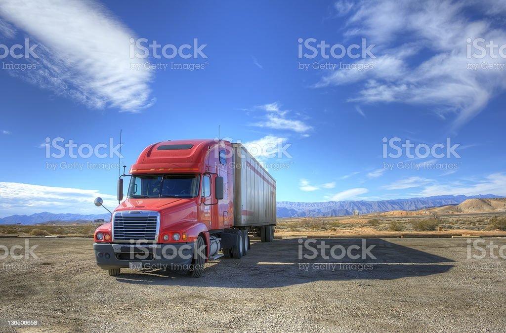 The Red Truck royalty-free stock photo