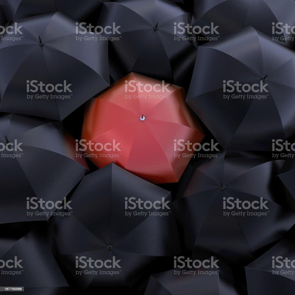The red umbrella stock photo