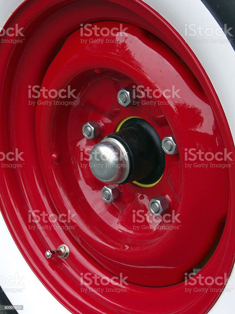 The Red Wheel stock photo