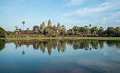 The reflection of Angkor Wat, Cambodia.