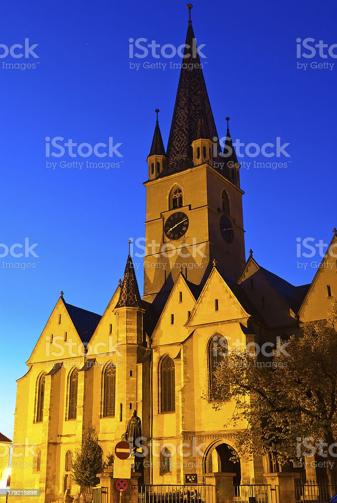 The Reformed Cathedral, Sibiu, Romania royalty-free stock photo