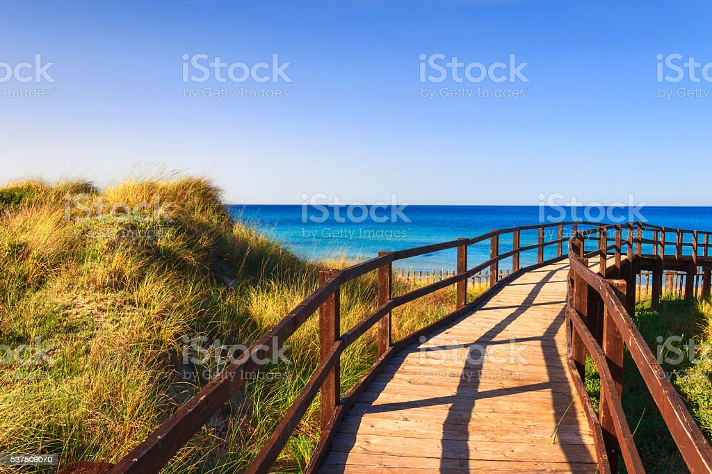 The Regional Natural Park Dune Costiere ,Torre Canne. (Apulia) -ITALY- stock photo