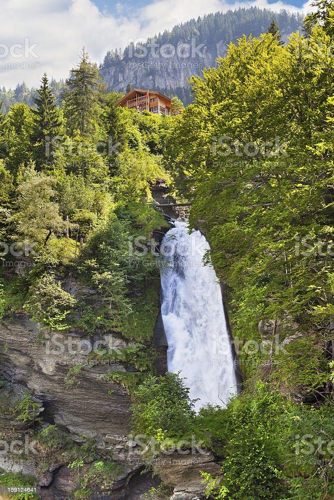 The Reichenbach Fall stock photo
