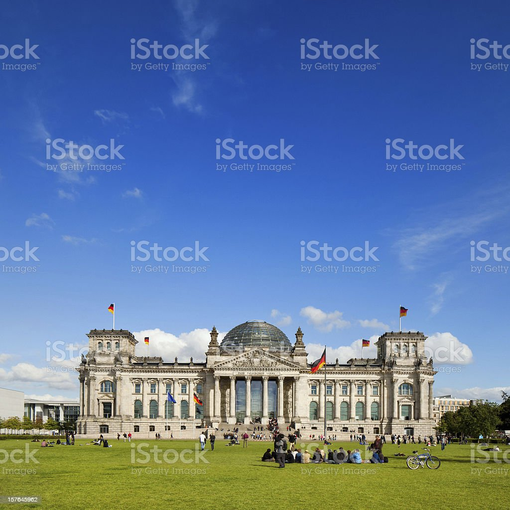 The Reichstag, Berlin stock photo