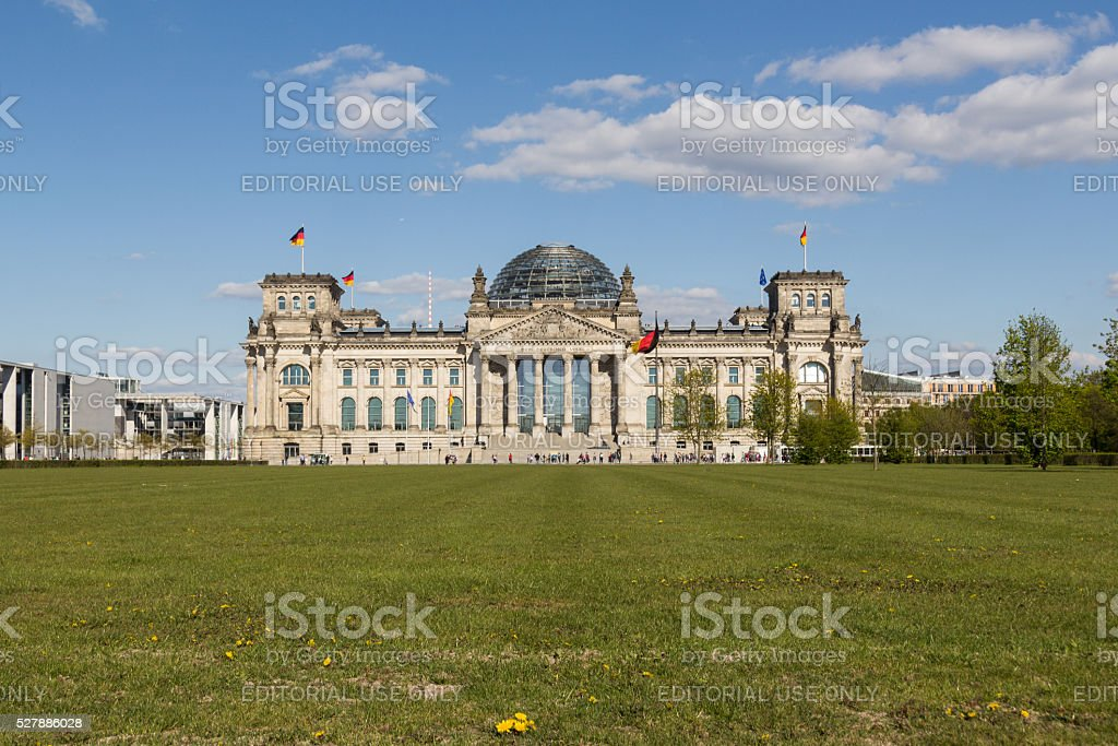 the Reichstag building in Berlin, Germany stock photo