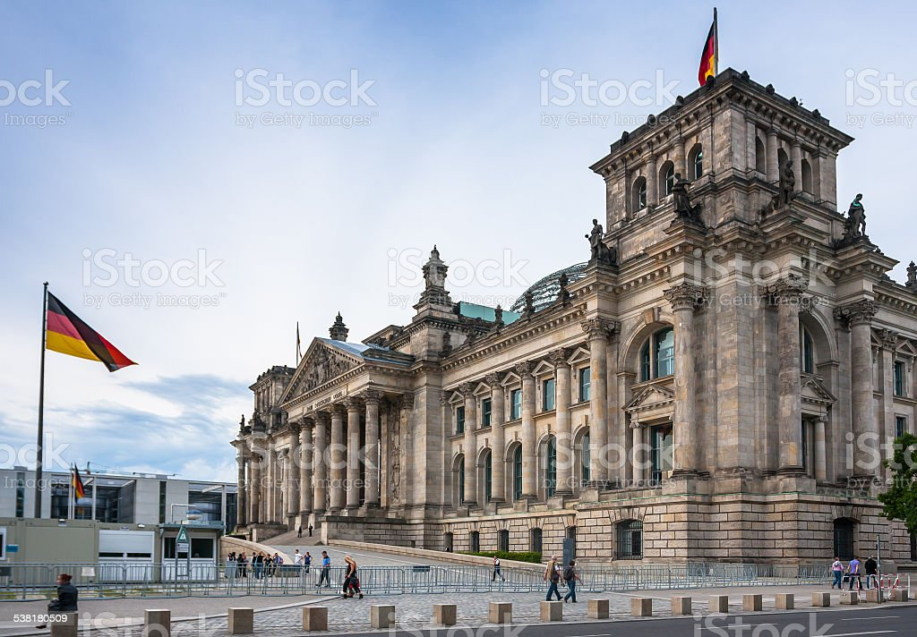 The Reichstag building (1884-1894) seat of the German parliament stock photo