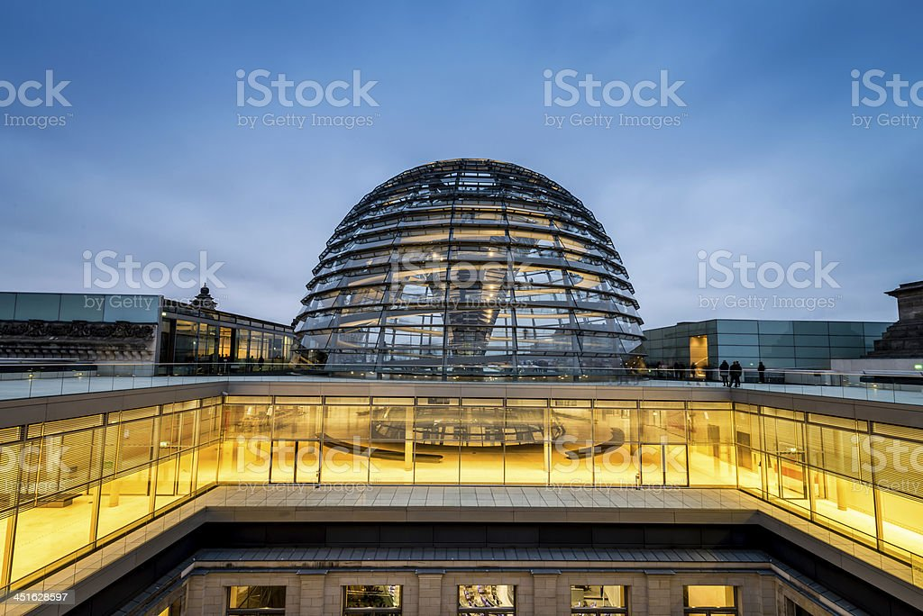 The Reichstag Dome, Berlin stock photo