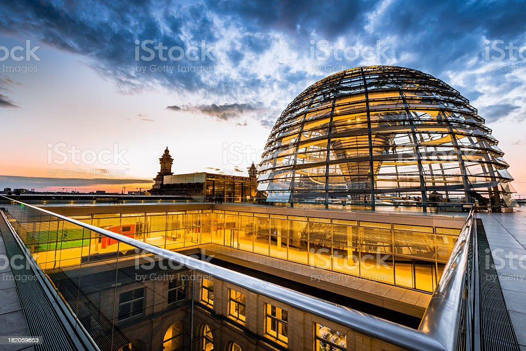 The Reichstag Dome,Berlin royalty-free stock photo