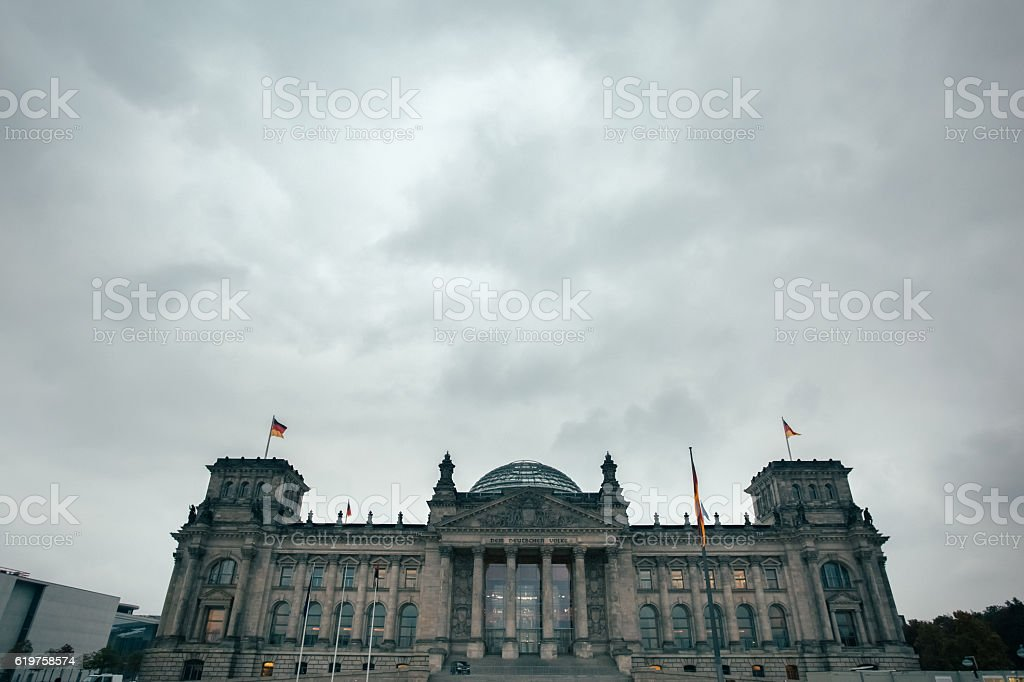 The Reichstag stock photo