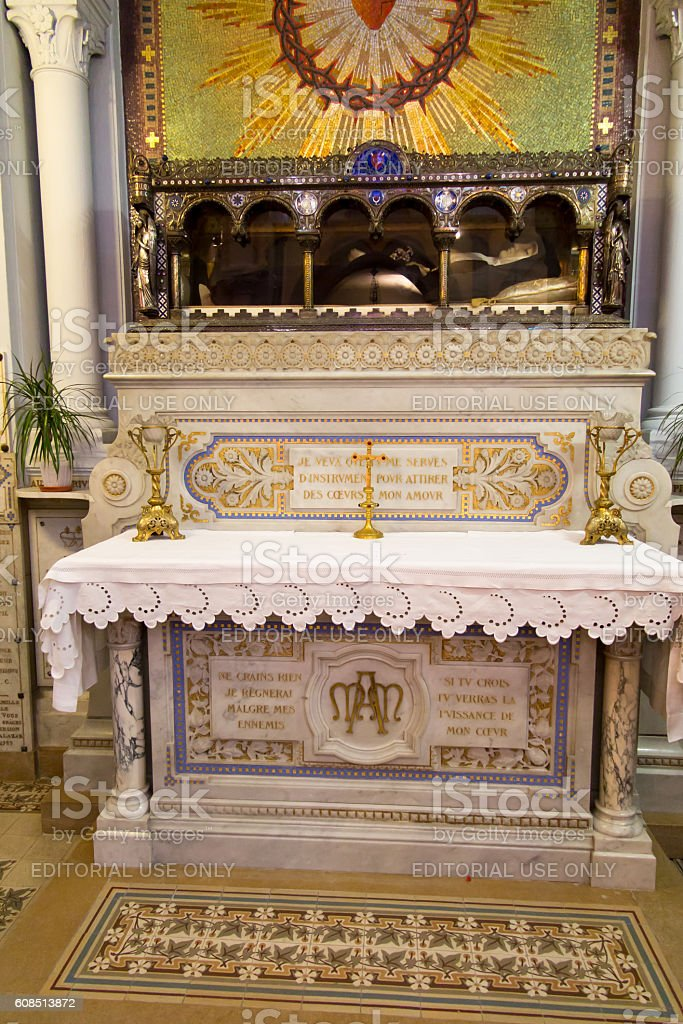 The Relics of St. Margaret Mary Alacoque in Paray-Le-Monial, France stock photo