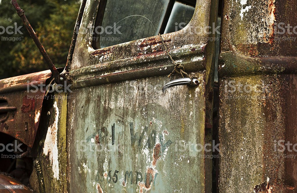 The Remains of a Truck royalty-free stock photo
