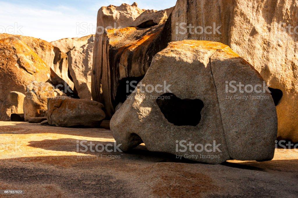 The Remarkable rocks, Kangaroo Island, Australia stock photo