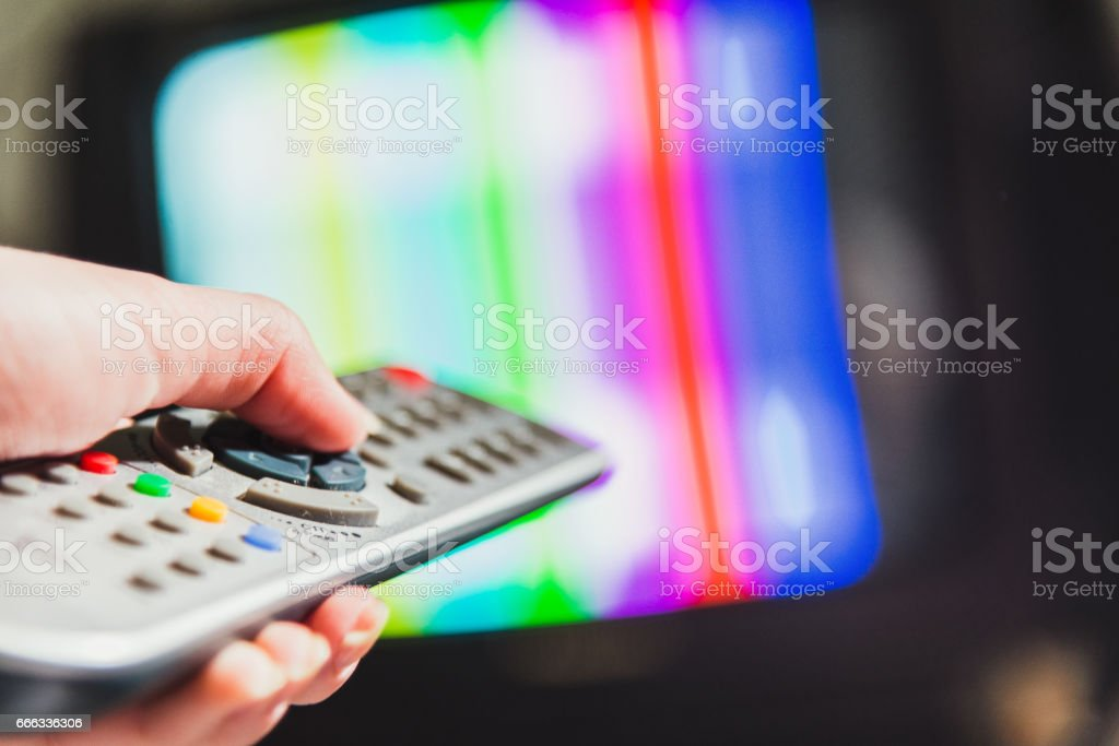 The remote control for the TV. stock photo