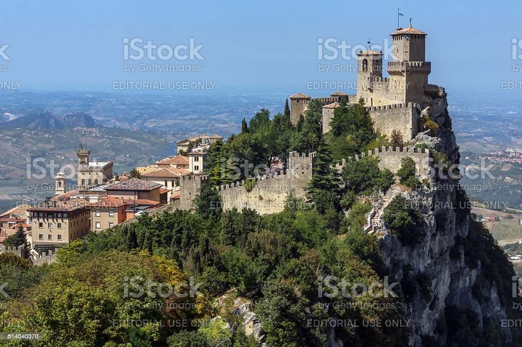 The Republic of San Marino stock photo