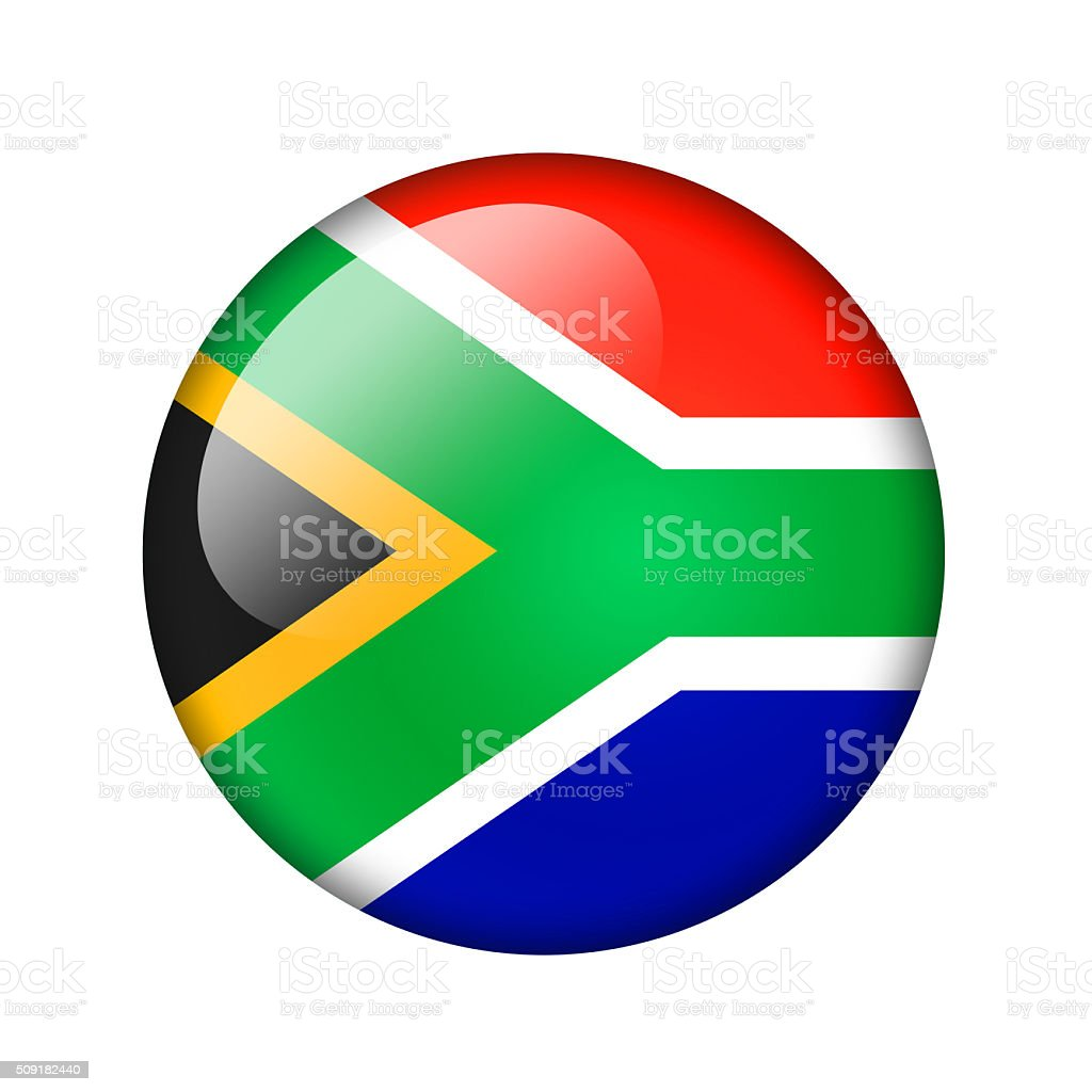 The Republic of South Africa flag vector art illustration