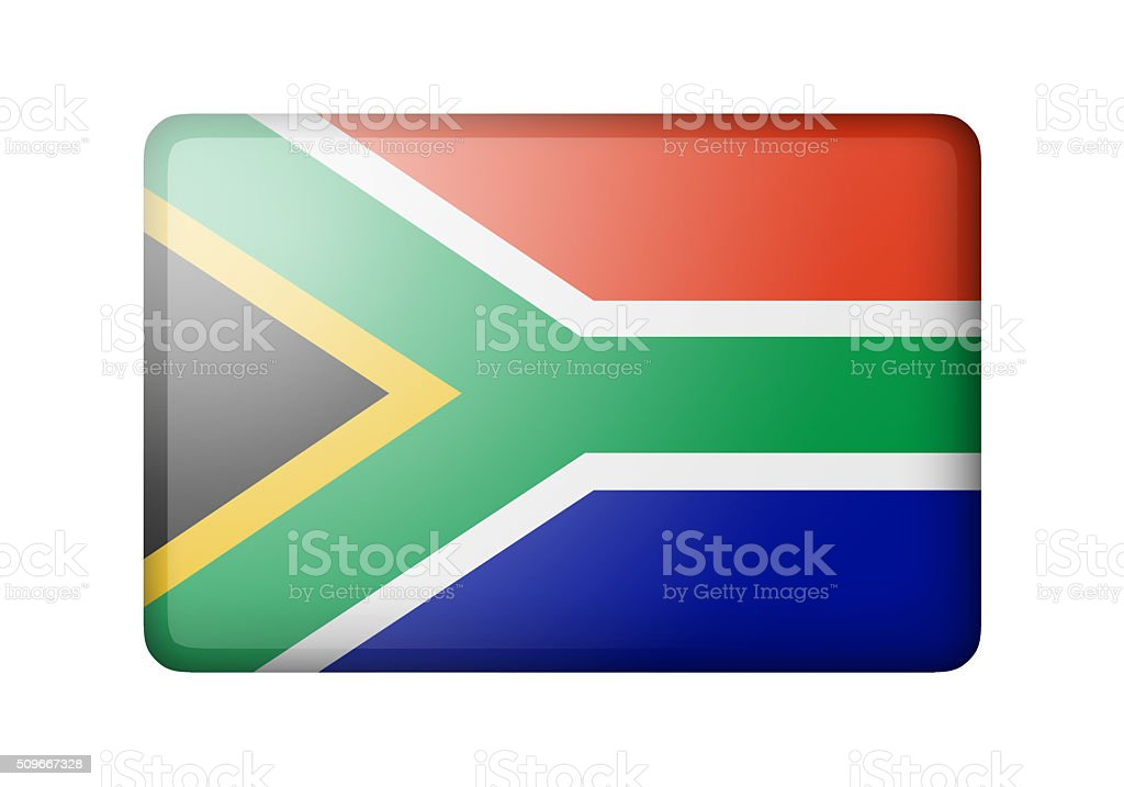 The Republic of South Africa flag stock photo