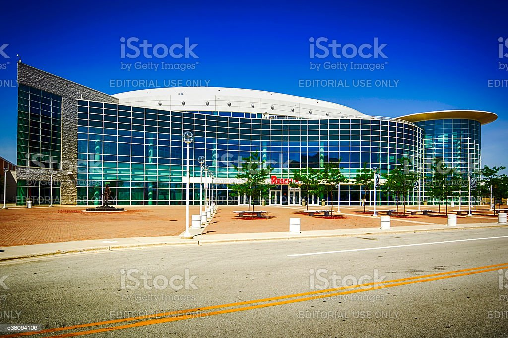 The Resch multi-sports arena in Green Bay, Wisconsin stock photo