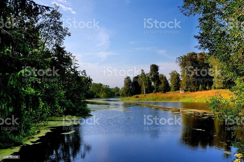 The reserve of a name of Pushkin , near Moscow, Russia. stock photo