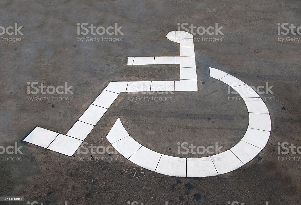 The Reserved car park for handicapped royalty-free stock photo