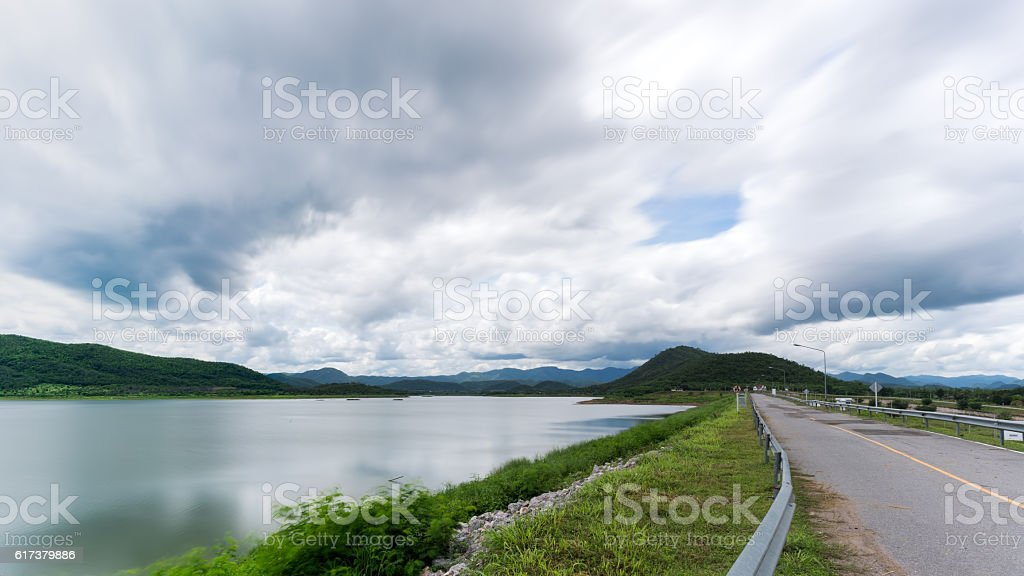 The reservoir at Ban Yang Chum stock photo